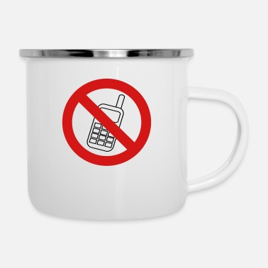 Phone No Phone - Enamel Mug