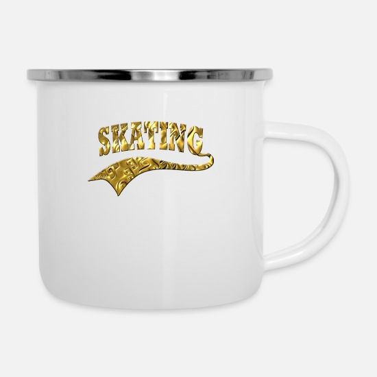 Skate Mugs & Drinkware - Skating - Enamel Mug white