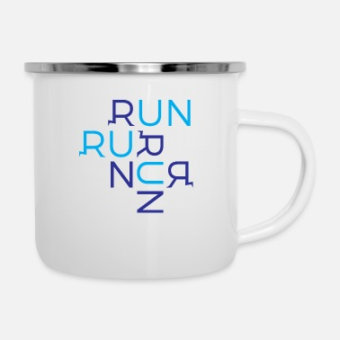 Running Run Run Run - Enamel Mug