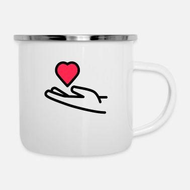 Receiver Receive heart - Enamel Mug