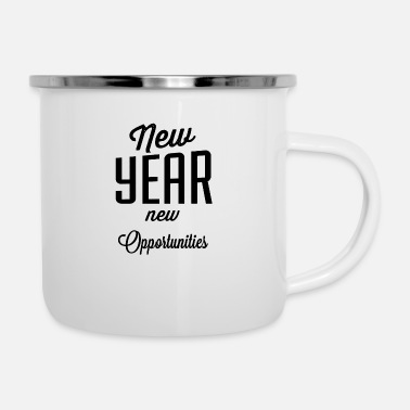 New Year New year new opportunities - Enamel Mug