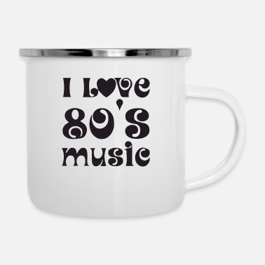 Neon I love music and the 80s - Camper Mug
