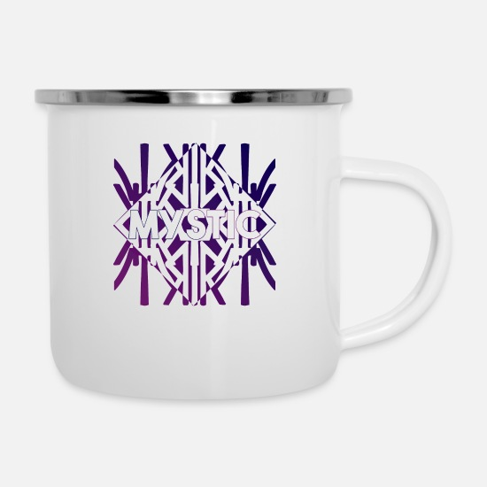 Style Of Music Mugs & Drinkware - MYSTIC MUSTER PURP STYLE (coloured) - Enamel Mug white