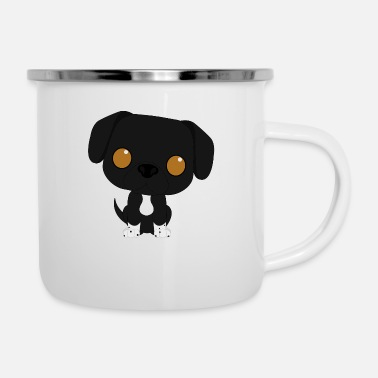 sweet mixed breed dog - Enamel Mug