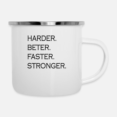 Body HARDER BETTER FASTER STRONGER - Enamel Mug