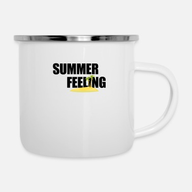 Feelings Summer Summer feeling palm island summer feeling gift - Enamel Mug
