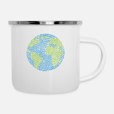 World World - Enamel Mug