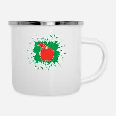 Painting Red apple - Enamel Mug