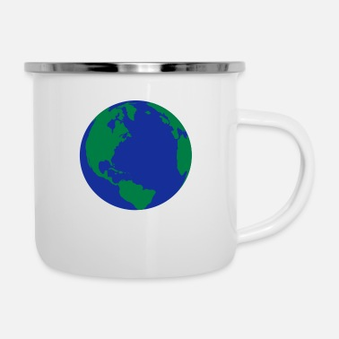 World The World - Enamel Mug