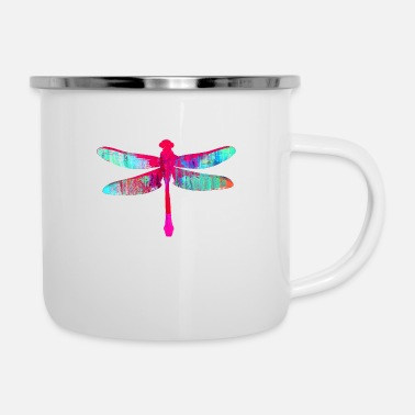 Fly dragon-fly, fyling, art, bird, graffiti, - Enamel Mug