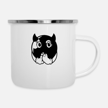 Cards devil ball - Enamel Mug