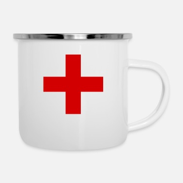 Plus RED PLUS - Enamel Mug