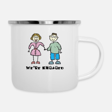Engagement Engagement We're Engaged - Enamel Mug