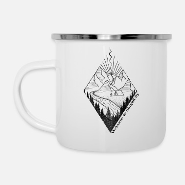 outdoor mountains hiking welcome to simplicity - Enamel Mug