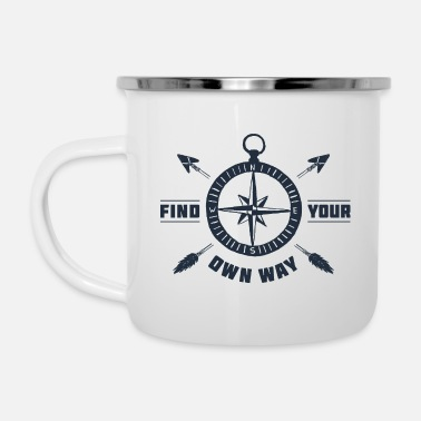 Find your way - Wanderlust collection - Enamel Mug