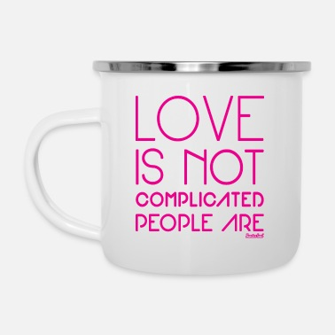 Love is not complicated, Francisco Evans ™ - Camper Mug