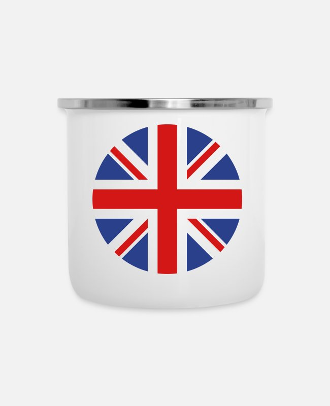 Kingdom Mugs & Cups - United Kingdom - Enamel Mug white