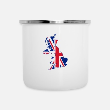 Nottingham Flag Uk Flag Home - Enamel Mug