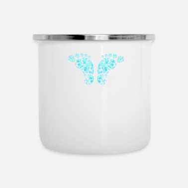 Footprint Butterfly - Enamel Mug