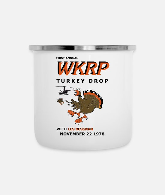 First Annual Turkey Drop Mugs & Cups - First Annual Turkey Drop - Enamel Mug white