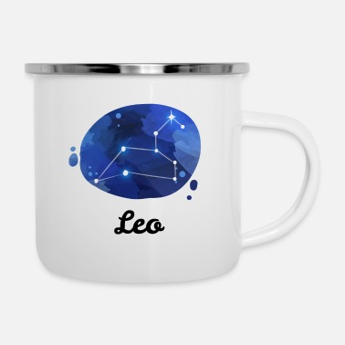 Astrology Constellation Leo Zodiac Horoscope Astrology Gift - Enamel Mug