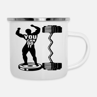 Mma You Can Do It Strength Training Body Building # - Enamel Mug