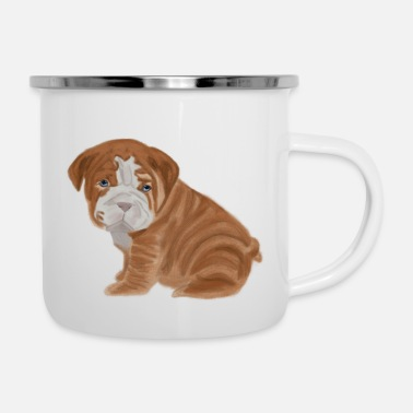 Bulldog Puppy bulldog puppy - Enamel Mug