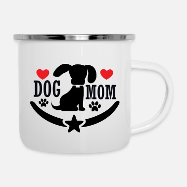 Dog Mom dog mom - Enamel Mug