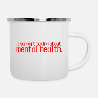 End The Stigma Merch - Enamel Mug
