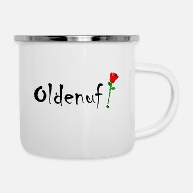 Kricket Kountry Oldenuf! - Enamel Mug