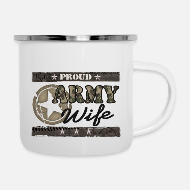 Army Army wife star - Enamel Mug