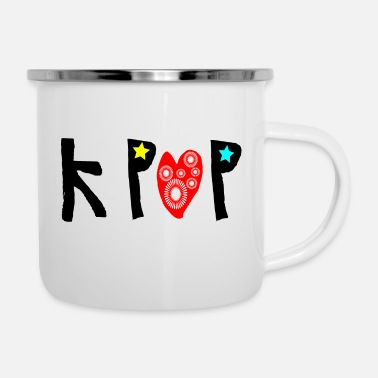 Graphic Art kpop_txt graphic art - Enamel Mug