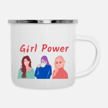 Girl Power Women's Day / Girl Power - Enamel Mug
