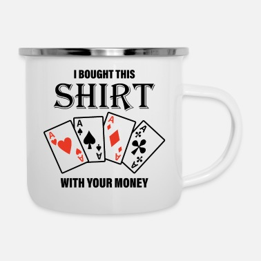 Spade That Was Bought With Your Money. Motive - Enamel Mug