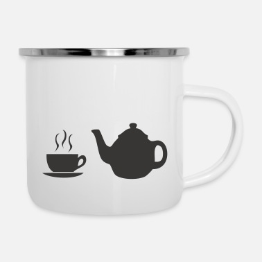 Bistro coffee pot and cup - Enamel Mug