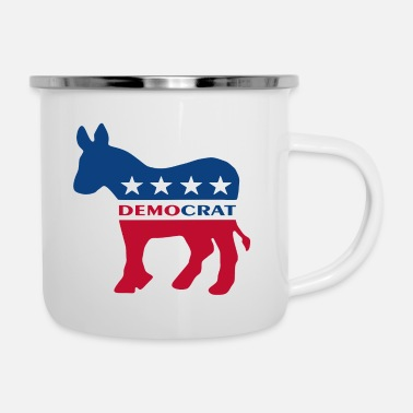 Democratic Party Democrat Party Logo - Enamel Mug
