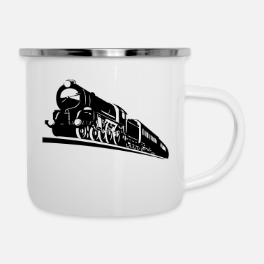 Bnsf train engine - Enamel Mug