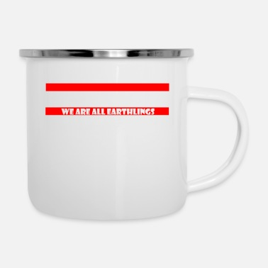 No to Racism - Anti Racism - Enamel Mug
