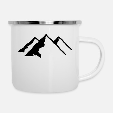 Mountains Mountains - Enamel Mug