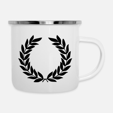 Wimbeldon Laurel Wreath - Enamel Mug