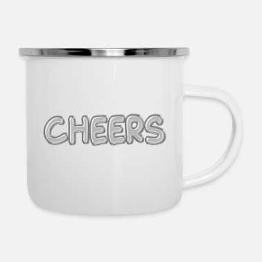 Speech Balloon Cheers Silver Foil Balloons - Enamel Mug