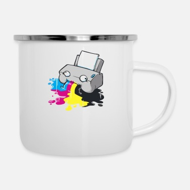 Funny printer - Enamel Mug