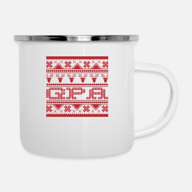 Gpa Christmas Ugly Xmas Sweater Gpa - Enamel Mug