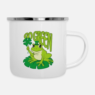 Double Meaning Go Green Cute Patrick's Day Frog Double Meaning - Enamel Mug