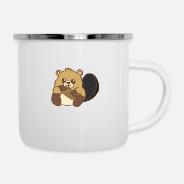 Nature Conservation Beaver forest rodents for children animal welfare - Enamel Mug