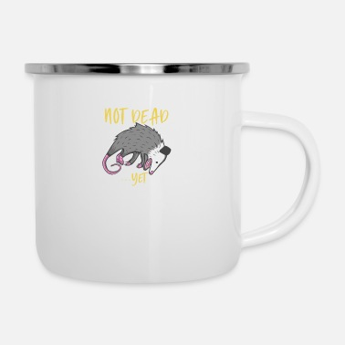 Possum Not Dead Yet Live Ugly Face Your Death Opos - Enamel Mug