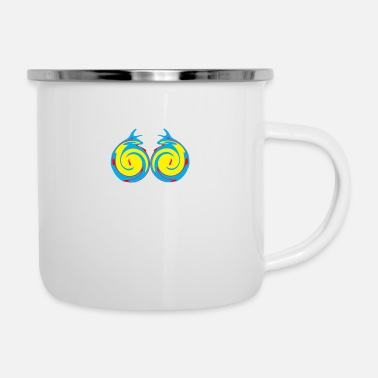 Graphic Art graphics art - Enamel Mug