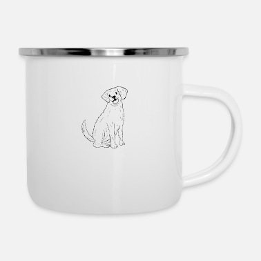 Cute Golden Retriever A Cute Golden Retriever Design - Enamel Mug