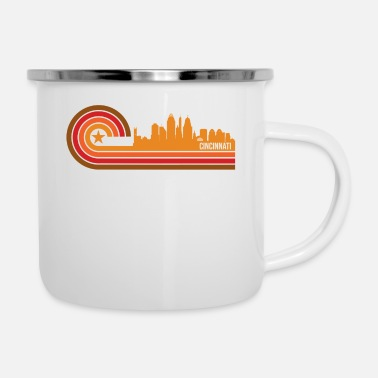 Ohio Retro Style Cincinnati Ohio Skyline - Enamel Mug