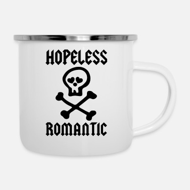 Romantic HOPELESS ROMANTIC - Enamel Mug
